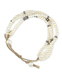 Mother Of Pearl Multi Strand Bracelet Tai White