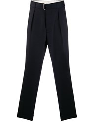 Officine Generale Belted Tailored Trousers Blue