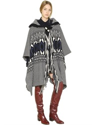 Chloe Chloe' Felted Wool And Cashmere Blend Cape