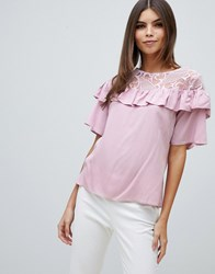 Closet Frill Lace Detailed Blouse Pink