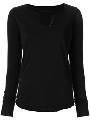 Zadig And Voltaire Long Sleeved T Shirt Black