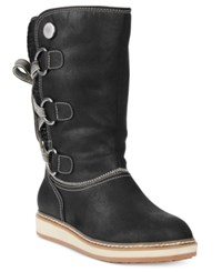 White Mountain Tivia Lace Up Cold Weather Boots Women's Shoes Black