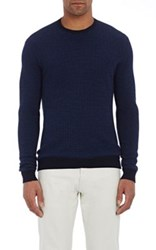 Zanone Men's Mock Turtleneck Sweater Blue