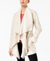 Inc International Concepts Petite Faux Suede Draped Jacket Created For Macy's Washed White