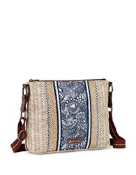 Sakroots Pacific Basic Crossbody Bag Navy Blue