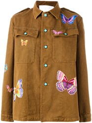 Giada Benincasa Butterfly Patches Boxy Jacket Brown