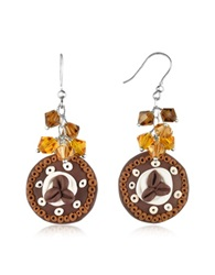 Dolci Gioie Chocolate Cake Earrings Brown