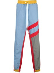 God's Masterful Children Striped Track Trousers Blue
