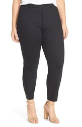 Plus Size Women's Nydj 'Amira' Embellished Stretch Ankle Skinny Jeans Black