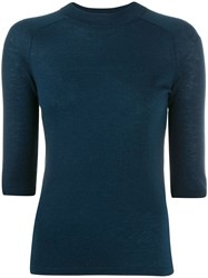 Vince Marl Knitted Top Blue