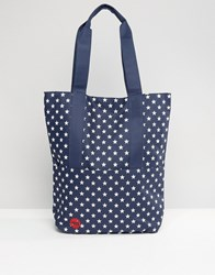 Mi Pac Tote In All Stars Print Navy Red