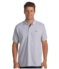 Lacoste Short Sleeve Classic Chine Pique Polo Shirt Silver Grey Chine Men's Clothing Gray