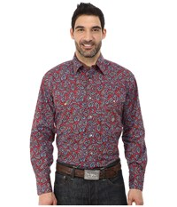 Roper 0050 Plaza Paisley Red Men's Clothing