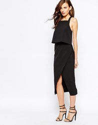 Keepsake Learnt From You Midi Dress In Black Black