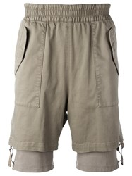 Helmut Lang Layered Cuff Shorts Nude Neutrals