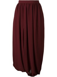 Comme Des Garcons Vintage Midi Balloon Skirt Red