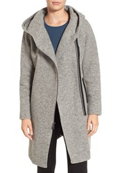 Andrew Marc New York Women's Hooded Wool Blend Coat