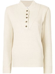 Margaret Howell Button Detail Jumper Nude And Neutrals