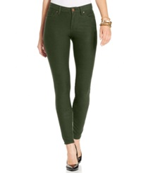 Style And Co. Skinny Knit Denim Jeggings Evening Olive