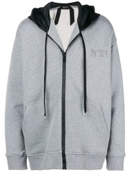N 21 No21 Colorblocked Hood Hoodie Grey