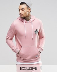 Hype Hoodie With Crest Logo Pink