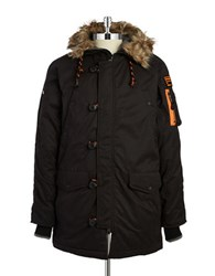 Superdry Faux Fur Trimmed Puffer Coat