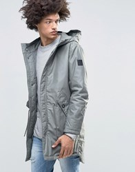 Cheap Monday Cage Hooded Parka Grey Elephant Grey