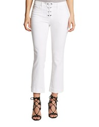 William Rast Lace Up Crop Flare Pants