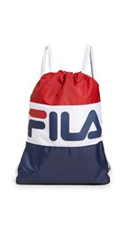 Fila Cinch Sack Navy White Chinese Red