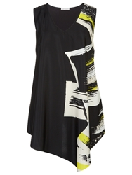 Windsmoor Asymmetric Print Tunic Top Multi Black