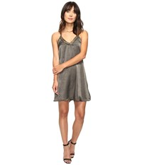 Brigitte Bailey Marrie Spaghetti Strap Dress With Lace Detail Olive Women's Dress