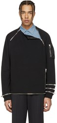 Givenchy Black Zip Pullover