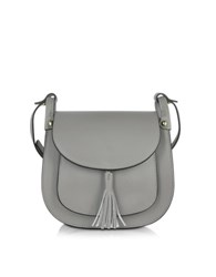 Le Parmentier Gray Leather Crossbody Bag