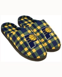 Forever Collectibles Indiana Pacers Flannel Slide Slippers Navy