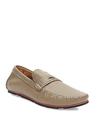 Zanzara Pebbled Leather Loafers Taupe