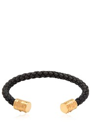 Northskull Khar Cuff Leather And Brass Bracelet