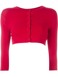 Alaa A Cropped Cardigan Red