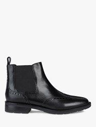 Geox 'S Bettanie Leather Chelsea Ankle Boots Black