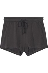 Skin Lofty Cotton Jersey Pajama Shorts Dark Gray