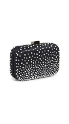 Santi Imitation Pearl Clutch Black White