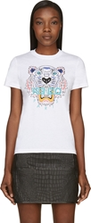 Kenzo White Tonal Tiger Graphic T Shirt