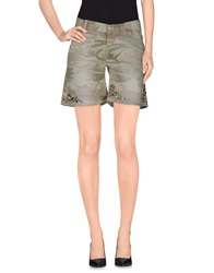 Two Women In The World Denim Bermudas Military Green