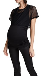 Koral Activewear Flex Maternity Top Black