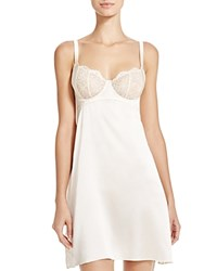 Else Silk And Lace Underwire Balconette Chemise Crema