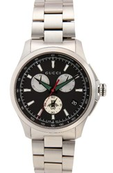 Gucci Men's Round Chronograph 44Mm Bracelet Watch