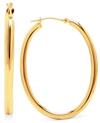 Macy's 14K Gold Earrings High Polish Oval Hoop
