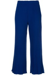 Simon Miller Ribbed Cropped Trousers Blue
