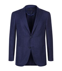 Corneliani Boucle Wool Blend Jacket Male Navy