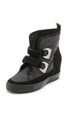Dkny Chamoix Wedge Booties Black