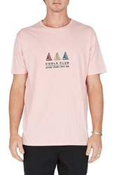 Barney Cools Embroidered Club T Shirt Pink